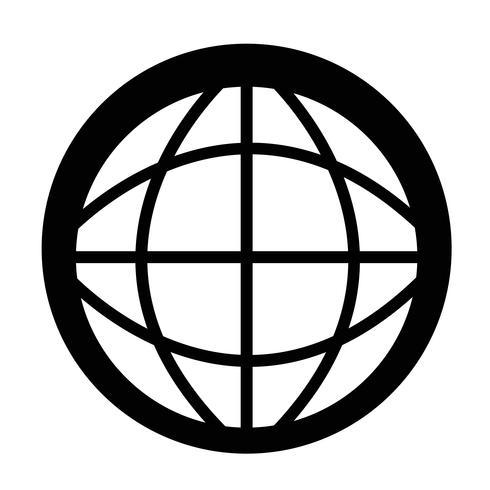 Sinal, de, globo, ícone