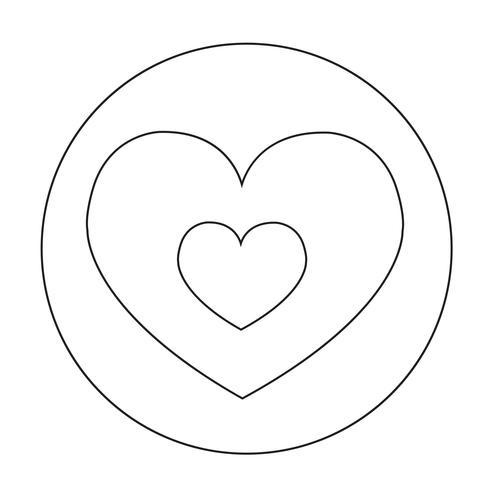 Icono de signo de corazon