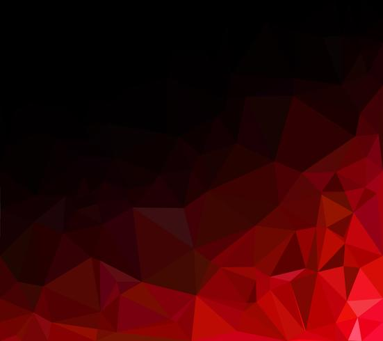 Fondo de mosaico poligonal rojo, plantillas de diseño creativo