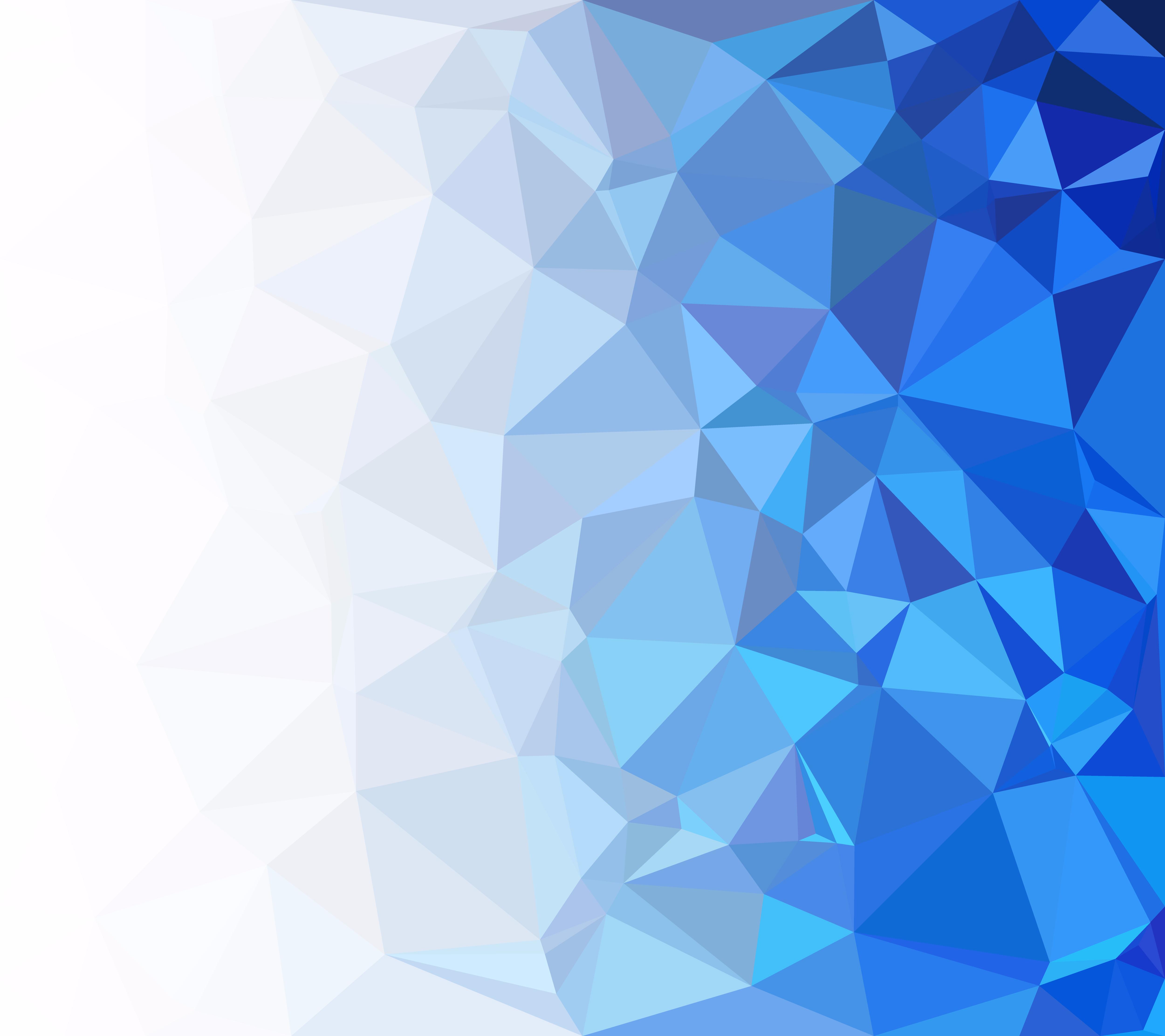Blue Polygonal Mosaic Background, Creative Design