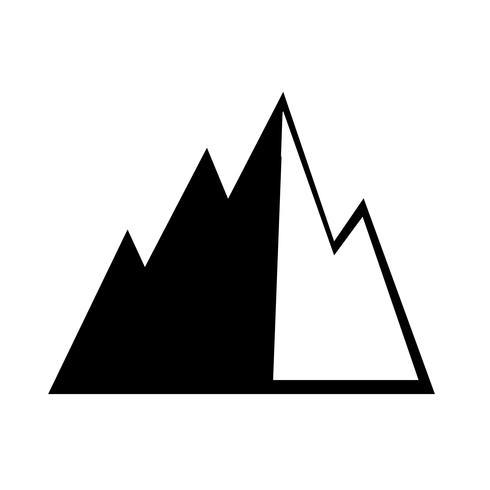 Segno dell'icona di montagna