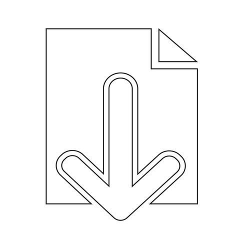 Segno dell'icona di download vettore