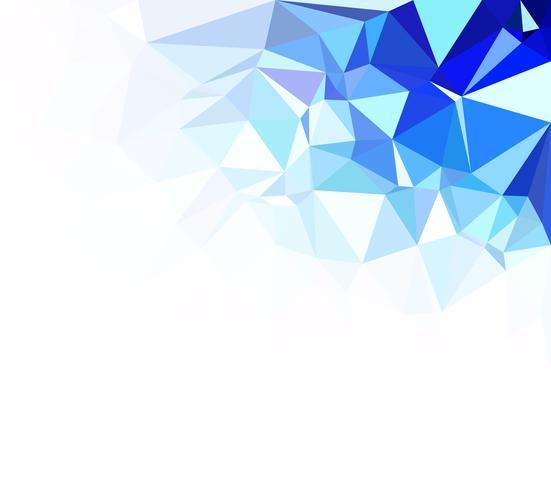 Fondo azul mosaico poligonal, plantillas de diseño creativo
