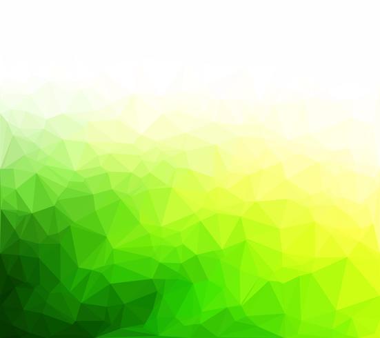 Fondo de mosaico poligonal verde, plantillas de diseño creativo