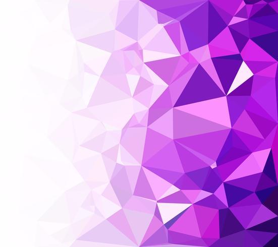 Fond de mosaïque polygonale violet, modèles de conception créative