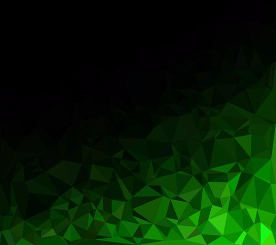 Sfondo verde mosaico poligonale, modelli di design creativo
