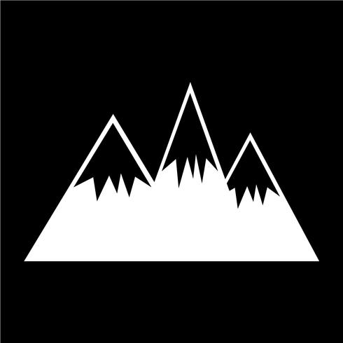 Signo de icono de montaña vector