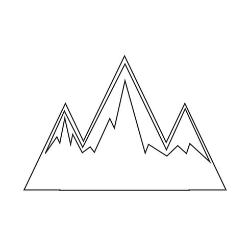 Sign of Mountain icon