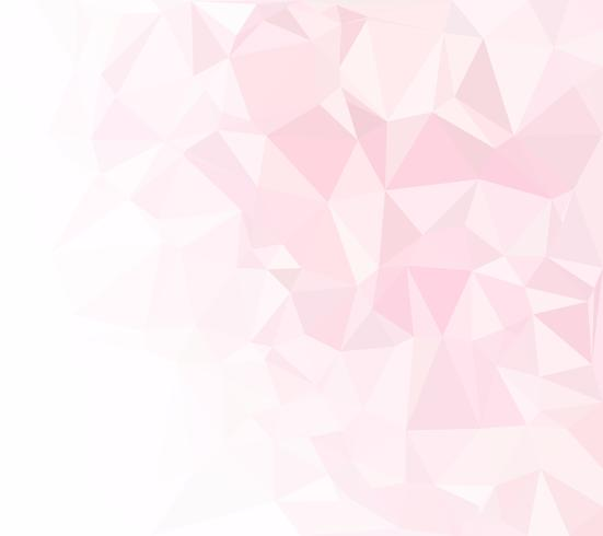 Roze veelhoekige mozaïek achtergrond, creatief ontwerpsjablonen