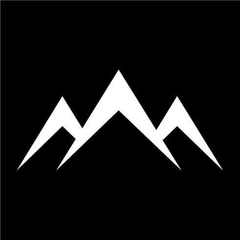 tecken på bergsymbolen