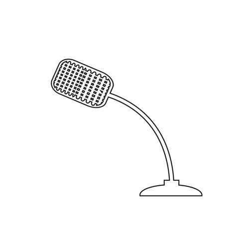 Sinal, de, microfone, ícone