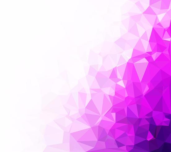 Fondo púrpura mosaico poligonal, plantillas de diseño creativo