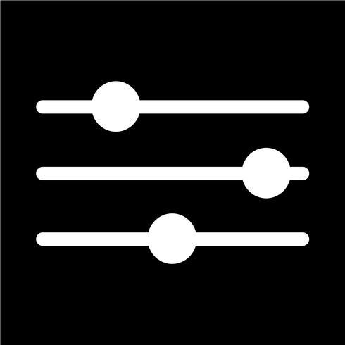 Icono de signo de control