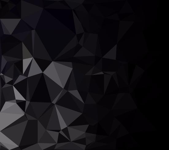 Fondo de mosaico poligonal negro, plantillas de diseño creativo