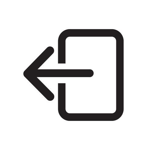 Logout sign icon