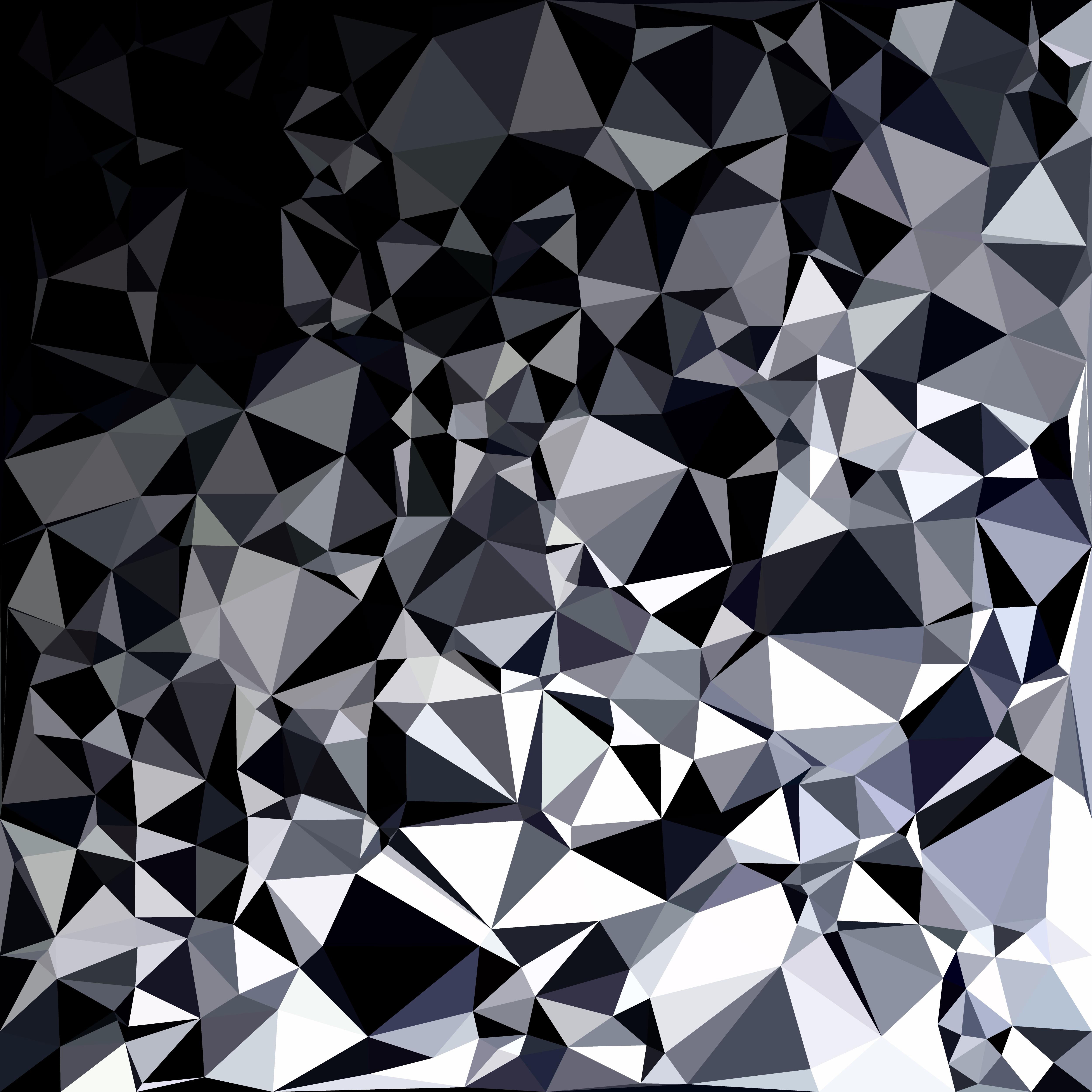 Gradient Abstract Logo Template: Black Polygonal Mosaic Background, Creative Design
