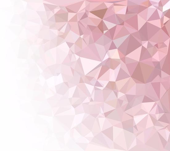 Fondo rosa mosaico poligonal, plantillas de diseño creativo