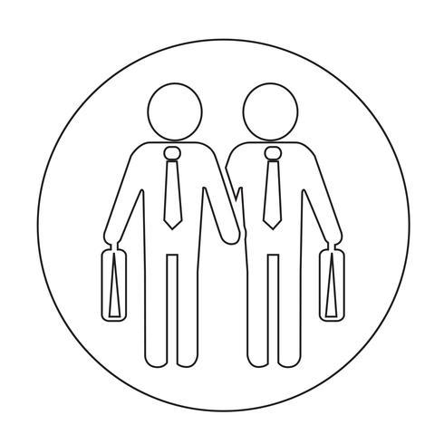 Icono de la gente de negocios