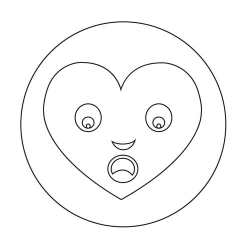 Icono de la emoción de la cara del corazón