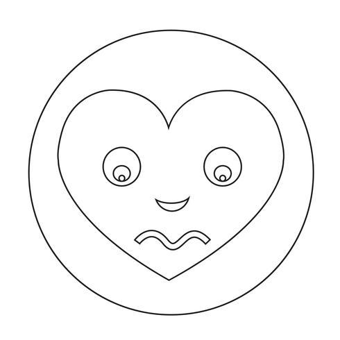 hjärta ansikte känsla ikon