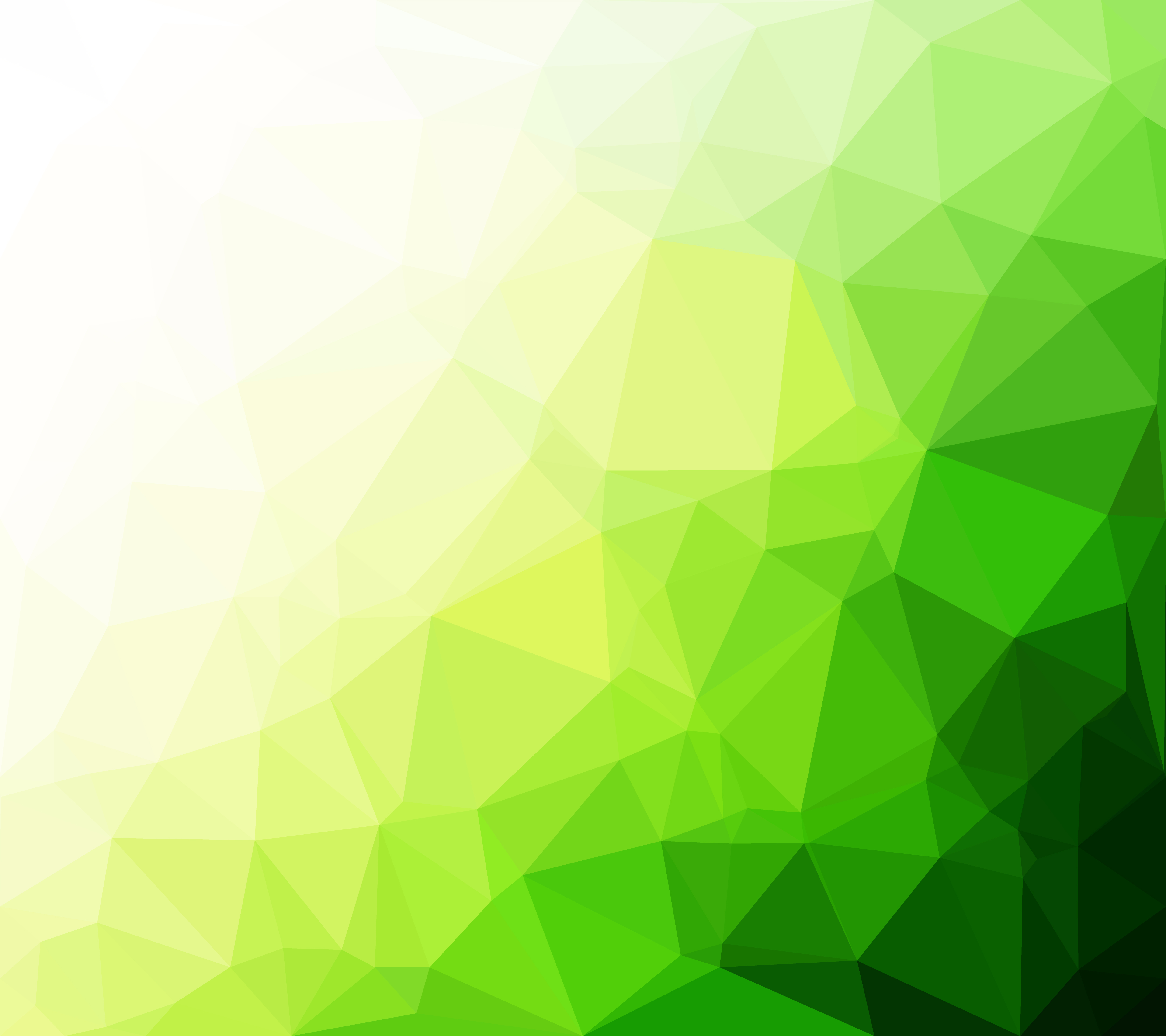 Colorful Template Design For Business Card: Green Polygonal Mosaic Background, Creative Design