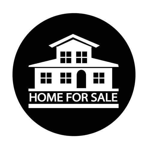 Icona di casa in vendita