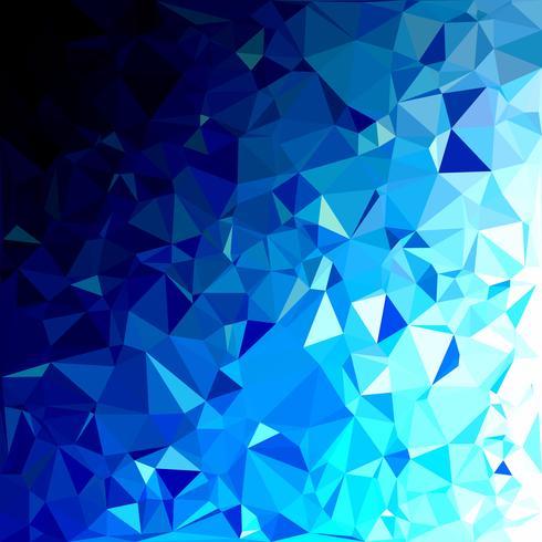 Fundo azul mosaico poligonal, modelos de Design criativo