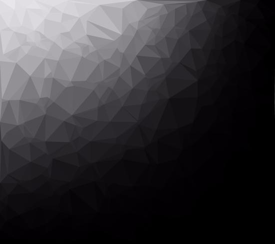 Fundo preto mosaico poligonal, modelos de Design criativo