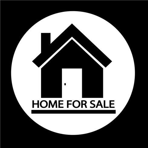 Icône de maison à vendre vecteur
