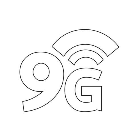 Icona WiFi wireless 9G