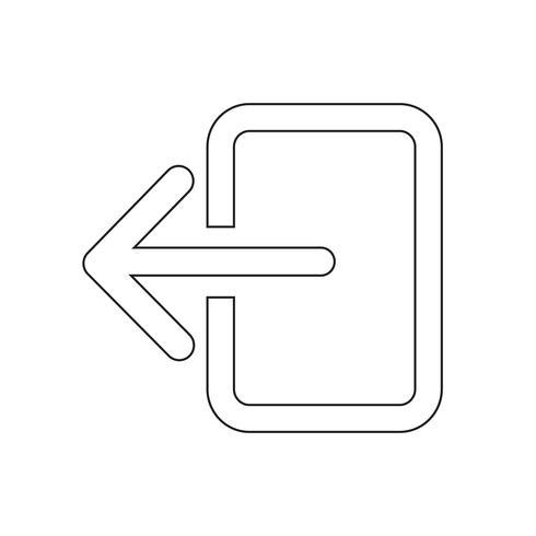 Ícone de sinal de logout