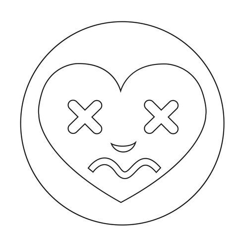 Ícone de emoção de rosto de coração