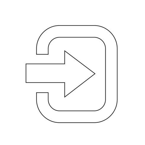 Logga in teckensymbol vektor