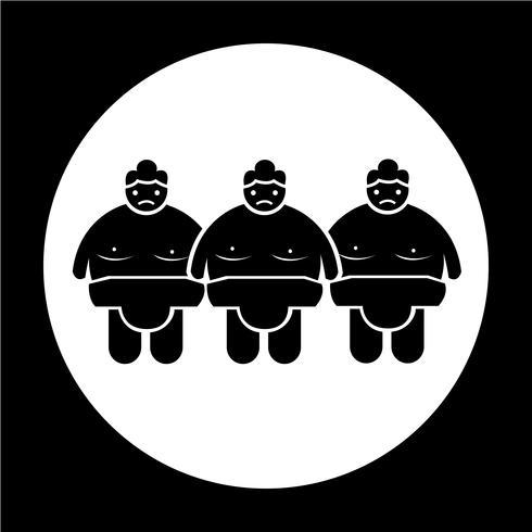 Icono de la gente de lucha de sumo