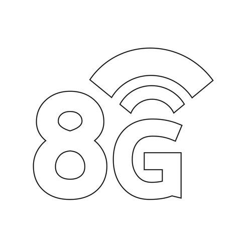 8G Wireless Wifi-ikon