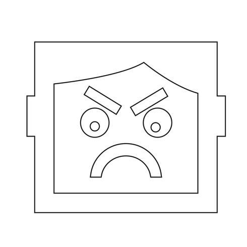 icono de emoción humana