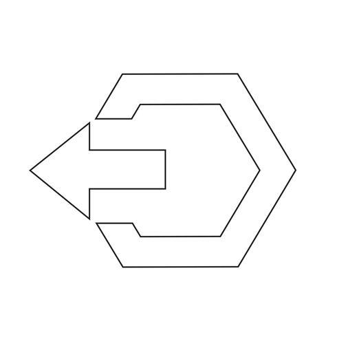Icône de signe de déconnexion vecteur