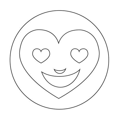 hart gezicht emotie pictogram