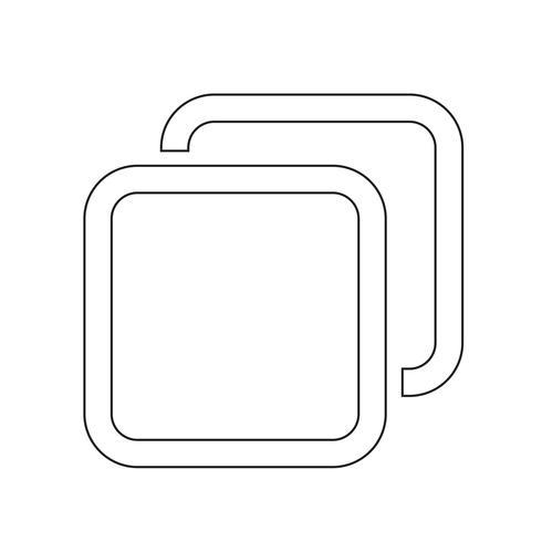 icono de pestaña de windows vector