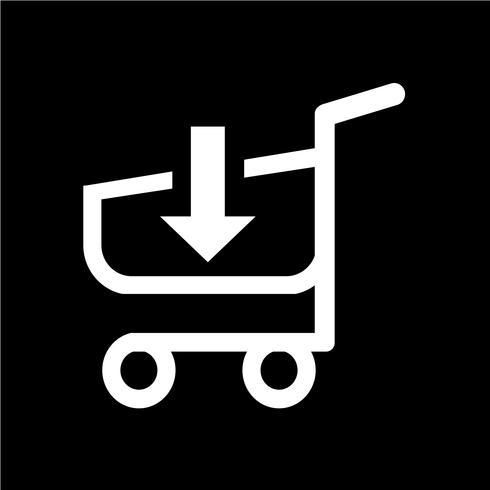 Einkaufswagen-Trolley-Symbol
