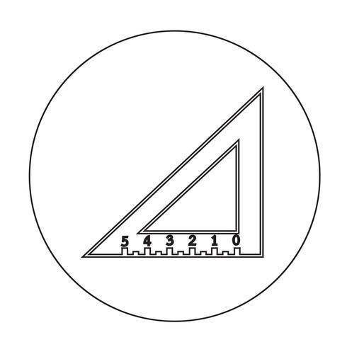 driehoek liniaal pictogram