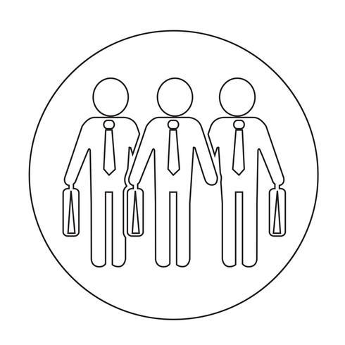 Homem negócios, pessoas, ícone