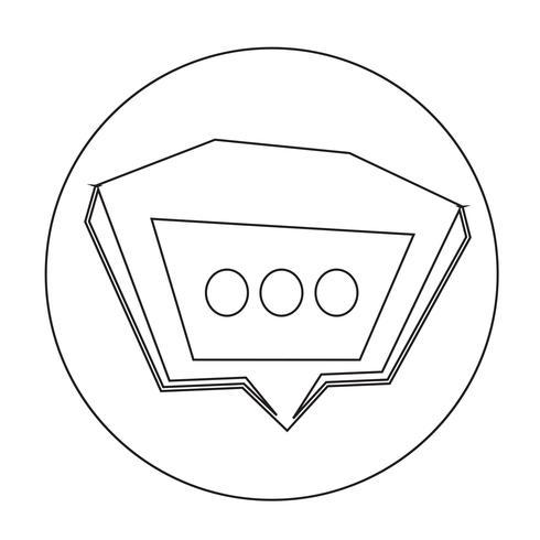 Toespraak bubble pictogram