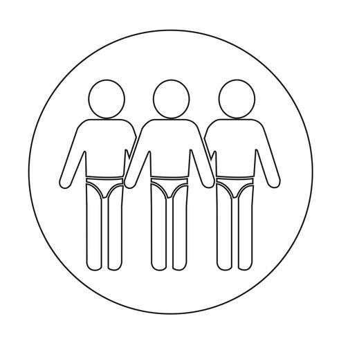Zwempak mensen pictogram