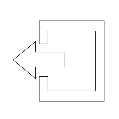 Logout-ikonen vektor