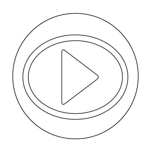 Speel knop pictogram
