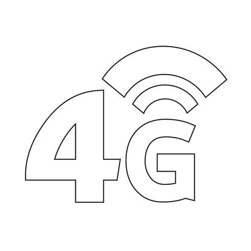 Ícone sem fio 4G Wi-fi