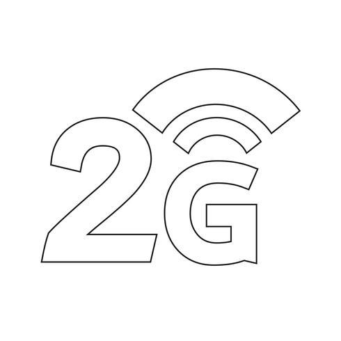 Icono inalámbrico de 2G Wifi