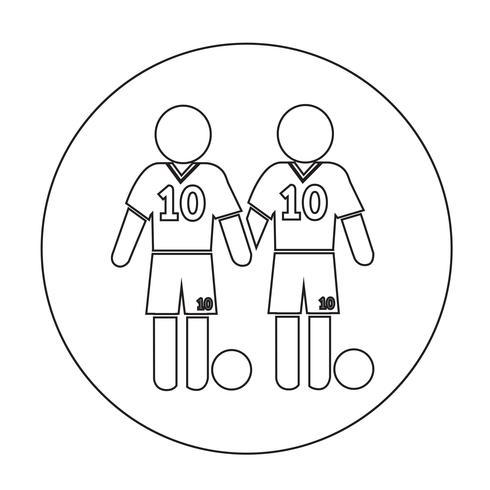 Voetbal voetballer pictogram