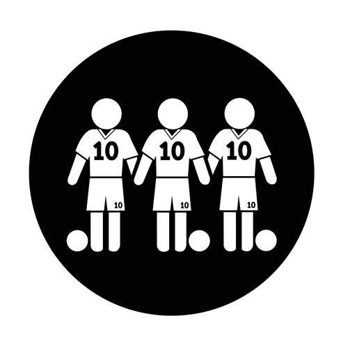 Fußball-Fußball-Spieler-Symbol